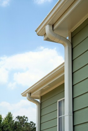 Gutter on a house.