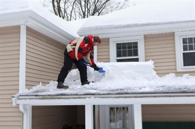 Roof shoveling in Crystal MN